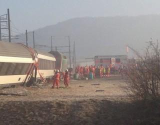 Grav accident feroviar în Elveția! Două trenuri au intrat în coliziune